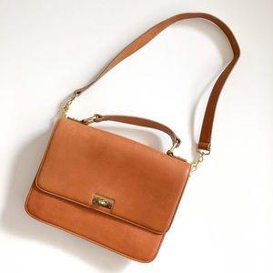 $238 Like New J crew Iconic Leather Edie purse bag
